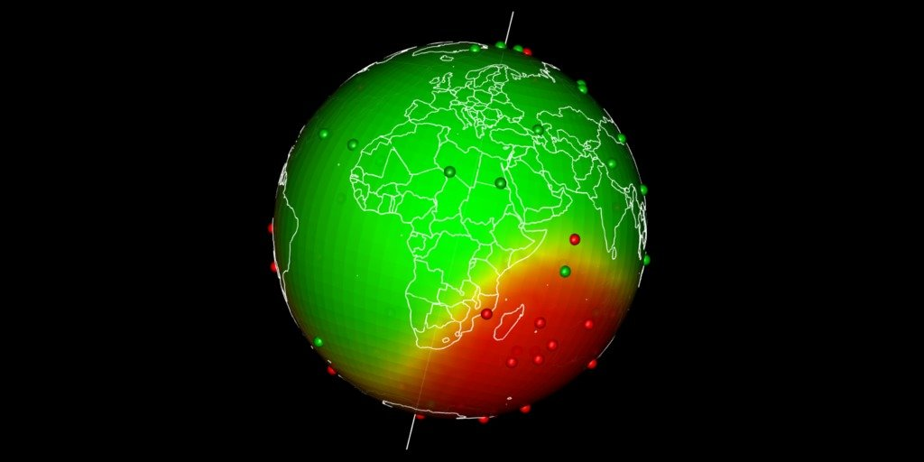 spatial interpolation on earth as a 3d sphere statnmap