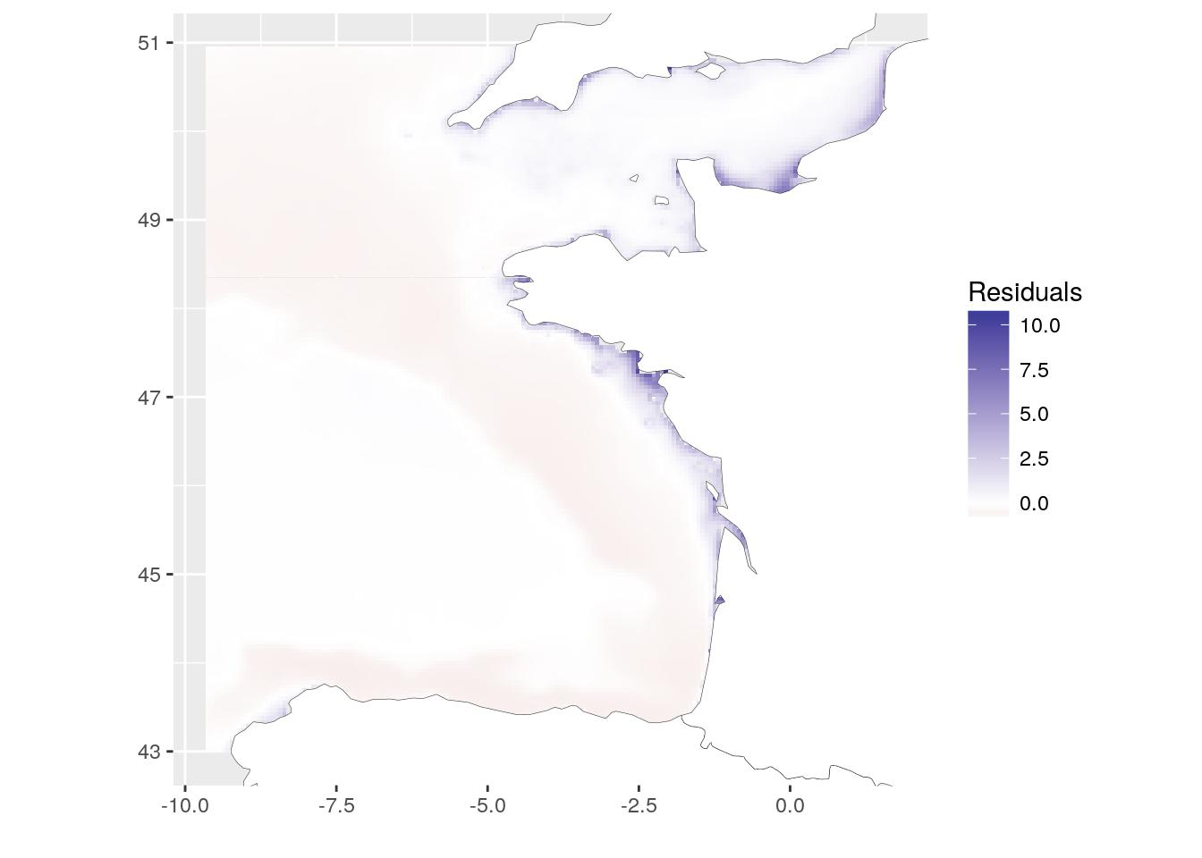 Spatial correlation between rasters · StatnMap